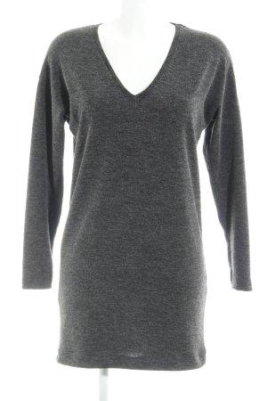 Zara Vestido de lana gris oscuro look casual