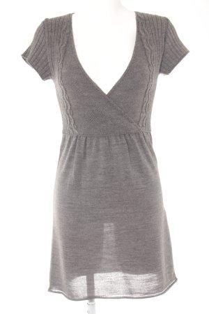 Zara Vestito di lana grigio stile casual