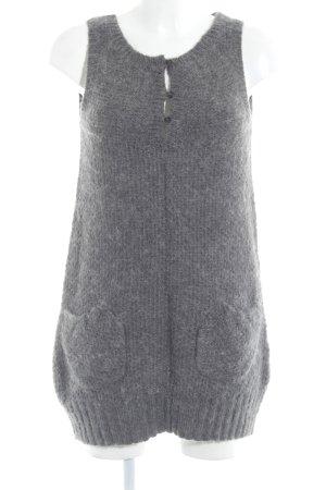 Zara Vestido de lana gris-gris oscuro look casual