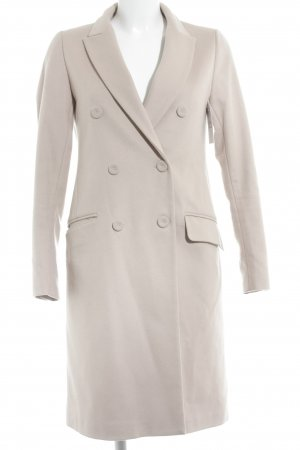 Zara Manteau en laine vieux rose style décontracté