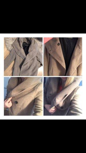 Zara Manteau à capuche multicolore