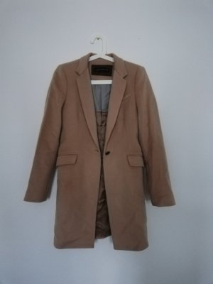 Zara Wollmantel Camel coat