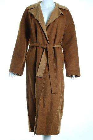 Zara Wollmantel camel-hellbraun schlichter Stil