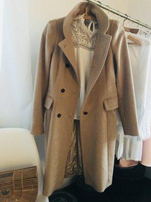 Zara Manteau en laine chameau