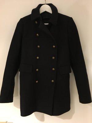 Zara Wollen jas zwart-goud Wol