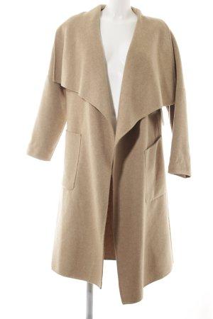 Zara Abrigo de lana marrón claro estilo clásico