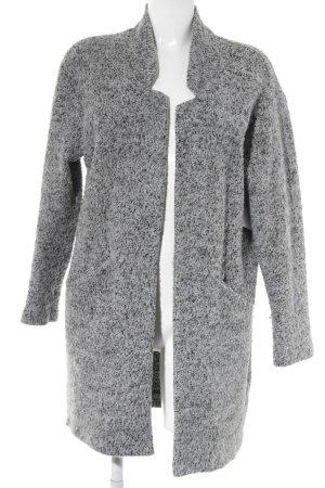 Zara Manteau en laine gris clair-gris foncé style décontracté