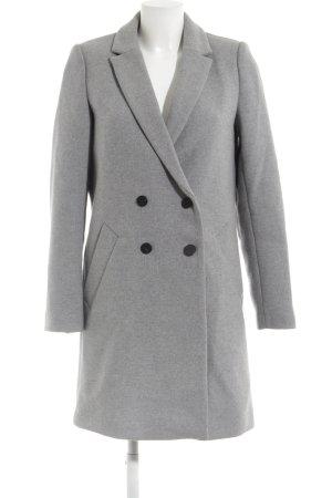 Zara Wollmantel hellgrau-grau meliert minimalistischer Stil
