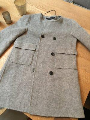 Zara Wollmantel in grau - wie neu