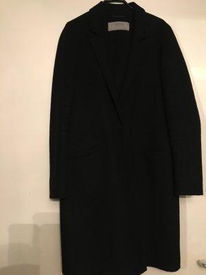 Zara Wollmantel in schwarz mit Druckknopf