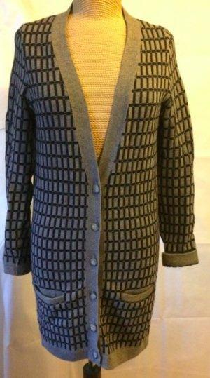 Zara Manteau en tricot gris foncé laine