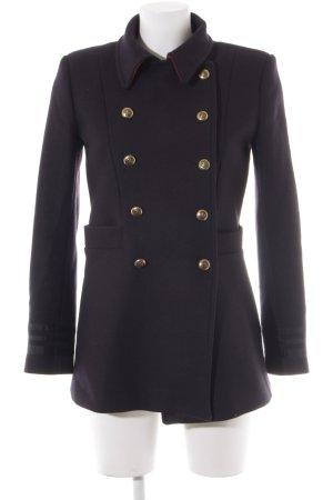 Zara Abrigo de lana multicolor estilo naval