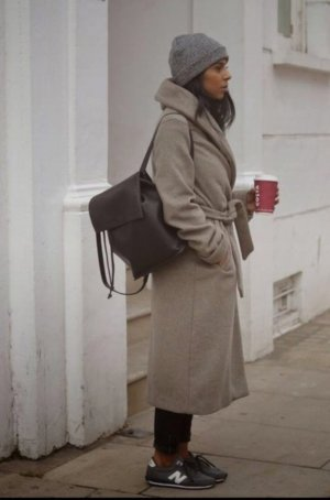Zara Basic Wollen jas veelkleurig