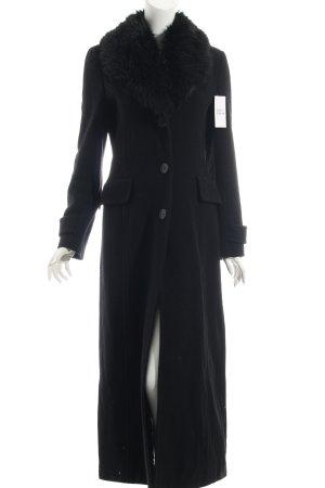 Zara Wollmantel schwarz klassischer Stil