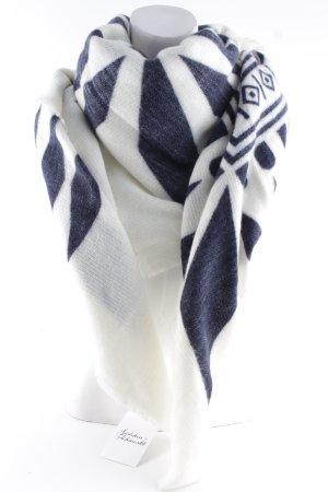 Zara Wollschal dunkelblau-wollweiß Mustermix sportlicher Stil
