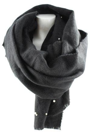 Zara Écharpe en laine noir-blanc style mode des rues