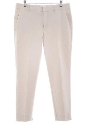 Zara Woman Pantalon 7/8 blanc cassé style d'affaires