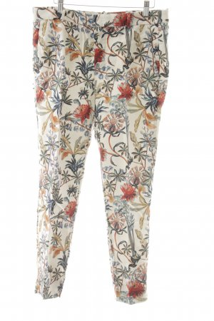 Zara Woman 7/8-Hose florales Muster Street-Fashion-Look
