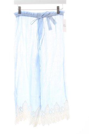Zara Woman 7/8-Hose himmelblau-weiß Casual-Look