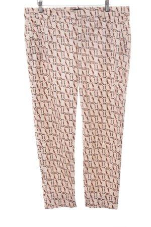 Zara Woman 7/8-Hose rosé-rot abstraktes Muster Casual-Look