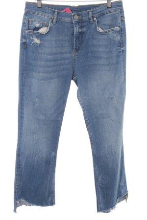 Zara Woman 7/8 Jeans blau Street-Fashion-Look