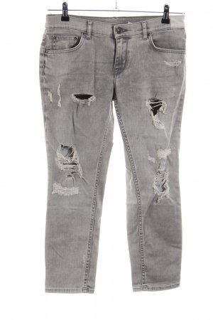 Zara Woman 7/8 Jeans hellgrau Street-Fashion-Look