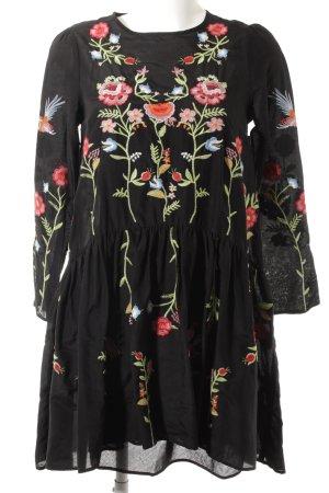 Zara Woman A-Linien Kleid Animalmuster Casual-Look