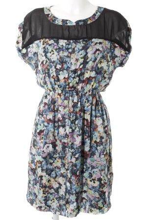 Zara Woman A-Linien Kleid florales Muster Romantik-Look