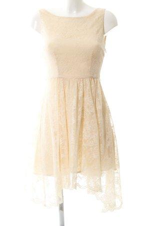 Zara Woman A-Linien Kleid nude florales Muster Casual-Look