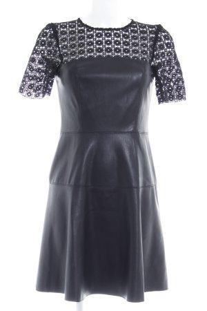 Zara Woman A-Linien Kleid schwarz Blumenmuster Elegant