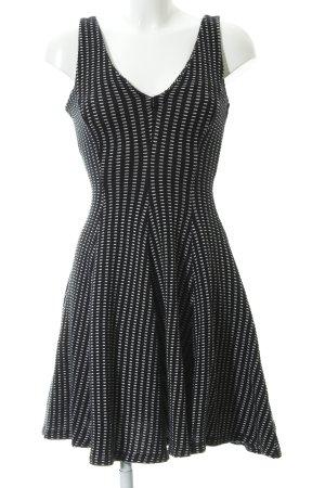 Zara Woman A-Linien Kleid schwarz-weiß grafisches Muster Casual-Look