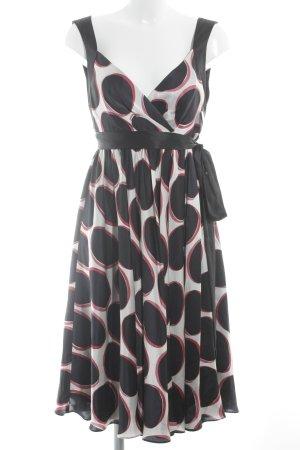 Zara Woman Abendkleid grafisches Muster Party-Look