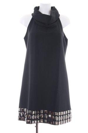 Zara Woman Abendkleid schwarz-silberfarben Elegant