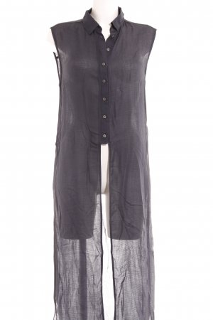 Zara Woman ärmellose Bluse dunkelblau Casual-Look