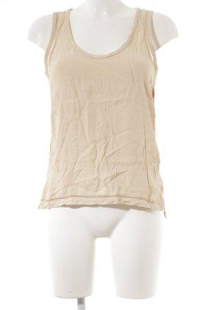 Zara Woman ärmellose Bluse nude Casual-Look