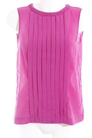Zara Woman ärmellose Bluse violett klassischer Stil