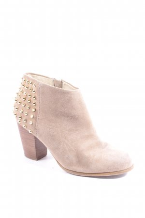 Zara Woman Ankle Boots hellbraun Street-Fashion-Look