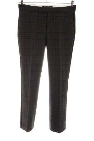 Zara Woman Pantalon de costume noir-kaki motif à carreaux style décontracté