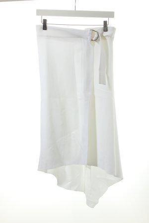Zara Woman Assymetrie-Rock weiß Romantik-Look