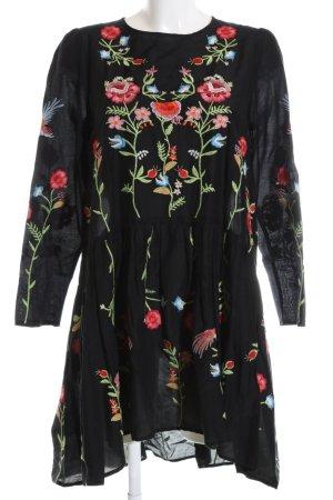 Zara Woman Babydoll Dress flower pattern casual look