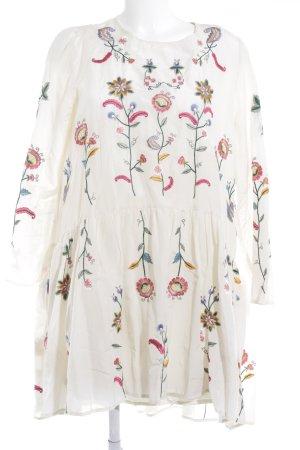 Zara Woman Vestido babydoll estampado floral estilo romántico