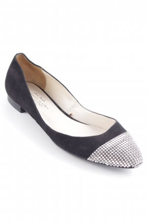 Zara Woman Ballerinas with Toecap black-silver-colored business style