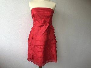 ZARA Woman Ballkleid, rot, kurz, Tüll, Seide, schulterfrei, Gr. M, wie neu