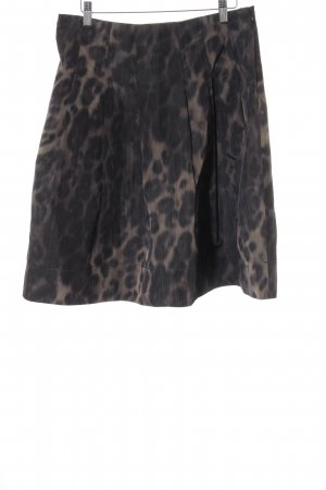 Zara Woman Gonna a palloncino marrone-grigio-sabbia Stampa leopardata