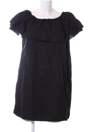 Zara Woman Bandeaujurk zwart casual uitstraling