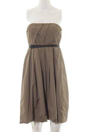Zara Woman Bandeaukleid graubraun Elegant