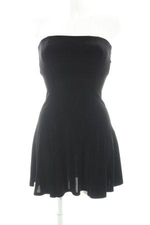 Zara Woman Bandeaukleid schwarz Glanz-Optik