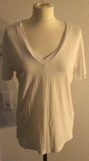 Zara Woman V-hals shirt wit Viscose