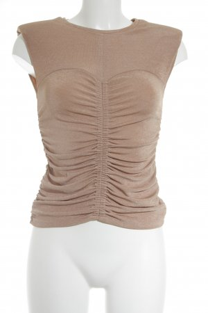 Zara Woman Basic Top roségoldfarben Casual-Look