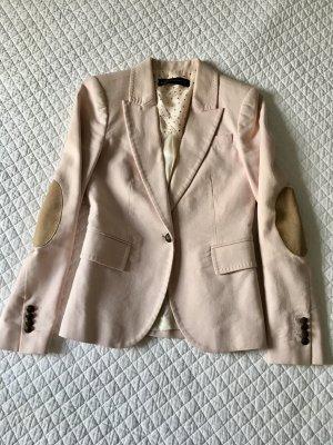 Zara Woman Boyfriend Blazer dusky pink-pink cotton
